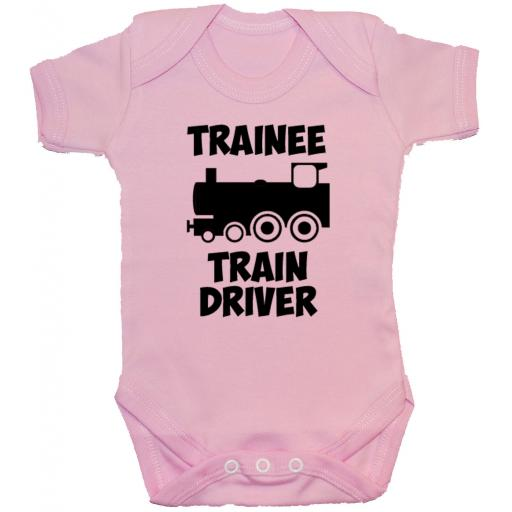 Trainee Train Driver Baby Grow, Romper, Bodysuit, Vest