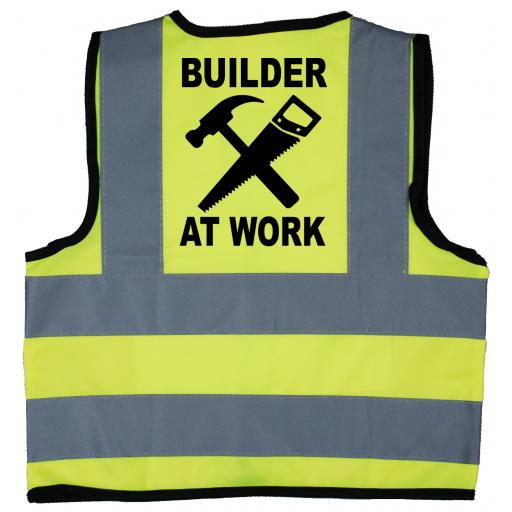 Builder At Work Hi Visibility Childrens Kids Safety Jacket
