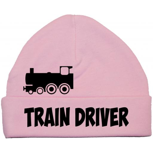 Train Driver Baby Beanie Hat, Cap Newborn-12m Steam