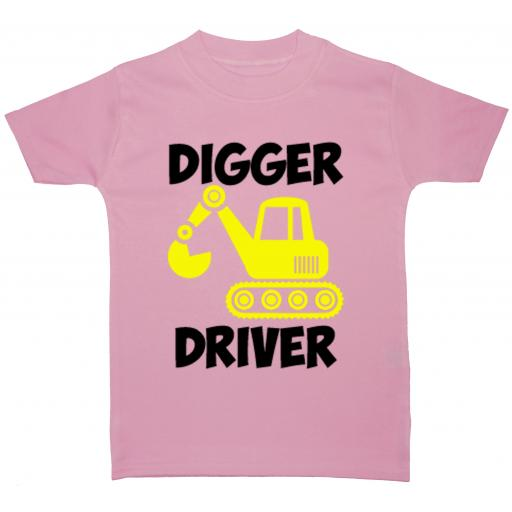 Digger Driver Baby, Children T-Shirt, Top