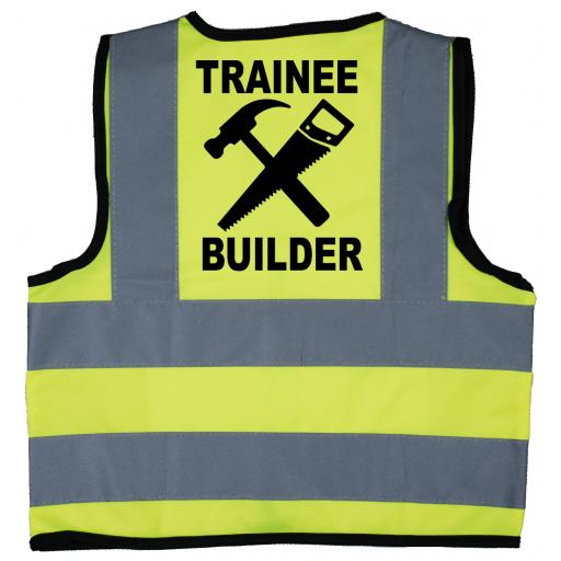 Trainee Builder Hi Visibility Childrens Kids Safety Jacket