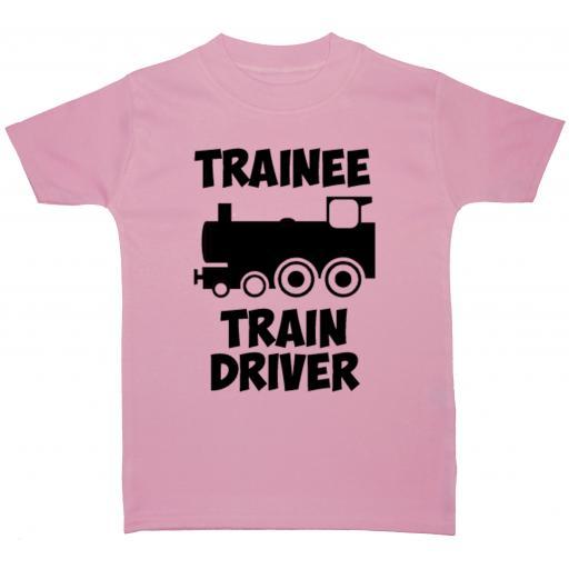 Trainee Train Driver Baby, Children T-Shirt, Top