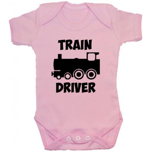 Train Driver Baby Grow, Romper, Bodysuit, Vest