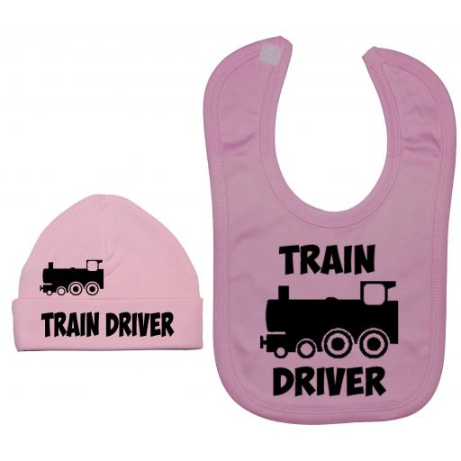 Train Driver Nursery Feeding Bib & Hat