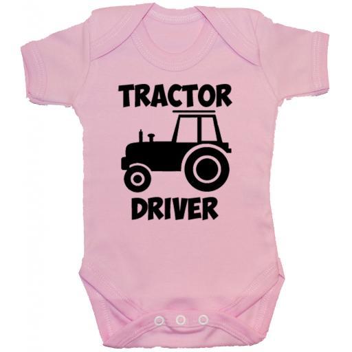 Tractor Driver Baby Grow, Romper, Bodysuit, Vest