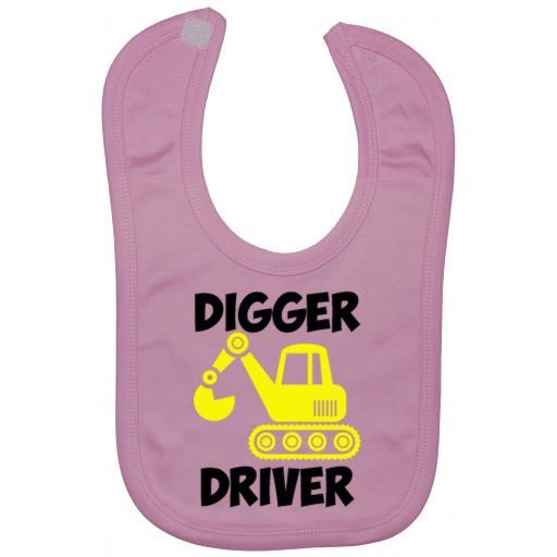 Digger Driver Baby Feeding Bib Newborn-3 Yrs