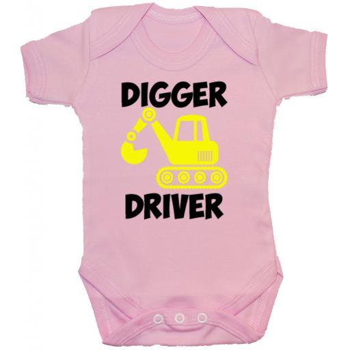 Digger Driver Baby Grow, Romper, Bodysuit, Vest