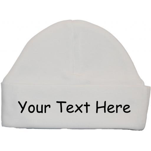 Personalised Bespoke Baby Beanie Hat, Cap Newborn - 12 Months