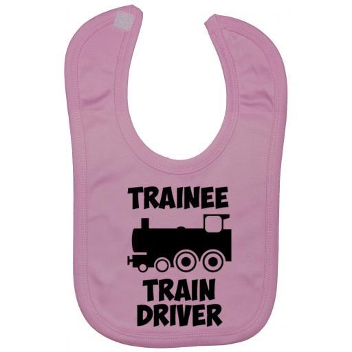 Trainee Train Driver Baby Feeding Bib Newborn-3 Yrs