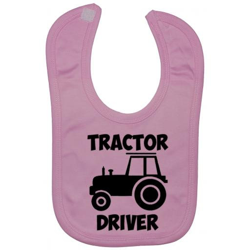 Tractor Driver Baby Feeding Bib Newborn-3 Yrs