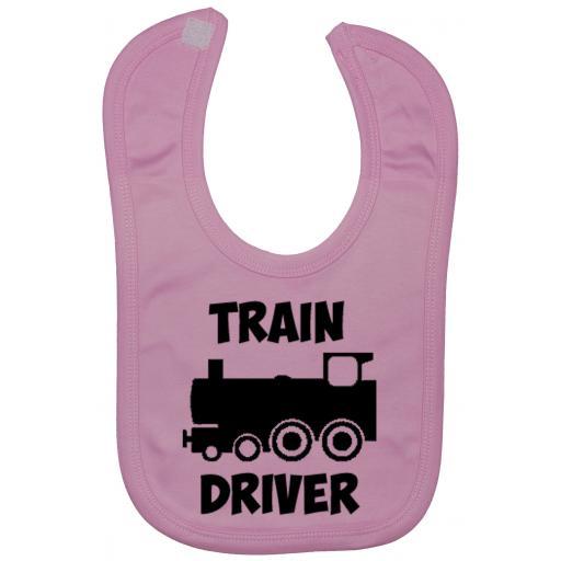 Train Driver Baby Feeding Bib Newborn-3 Yrs