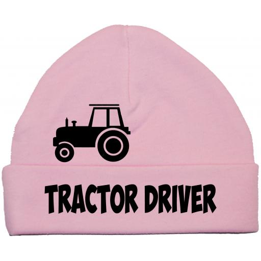 Tractor Driver Baby Beanie Hat, Cap 0-12m
