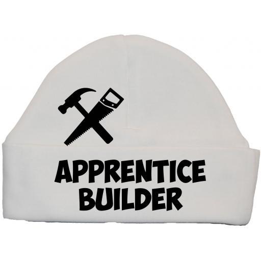 Apprentice Builder Baby Beanie Hat, Cap 0-12m