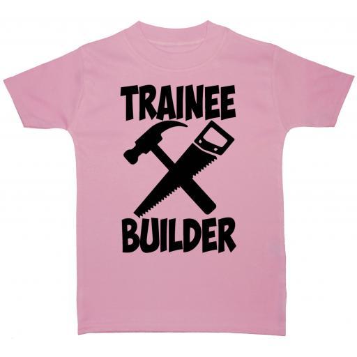 Trainee Builder Baby, Children T-Shirt, Top