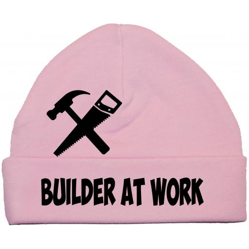 Builder At Work Baby Beanie Hat, Cap 0-12m