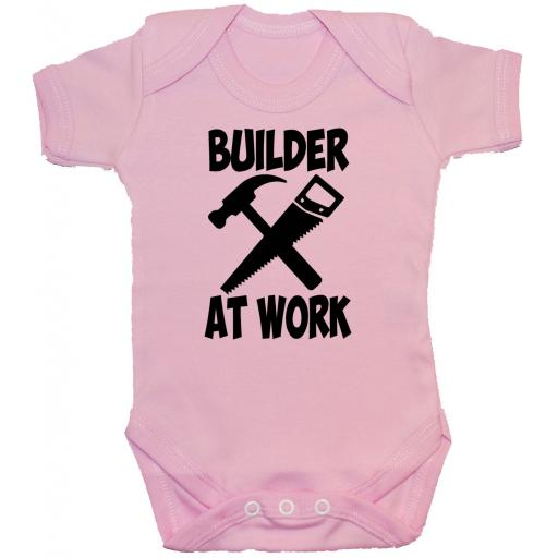 Builder At Work Baby Grow, Romper, Bodysuit, Vest