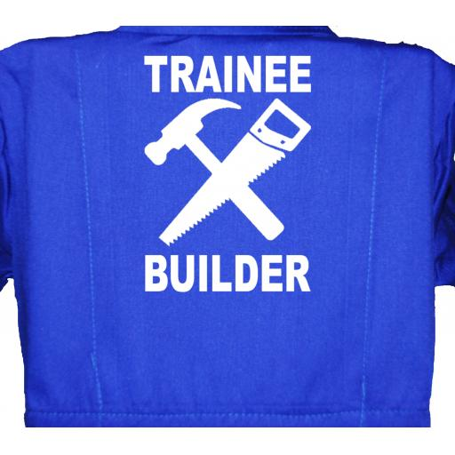 Trainee Builder Childrens, Kids, Coverall, Boiler suit, Overalls