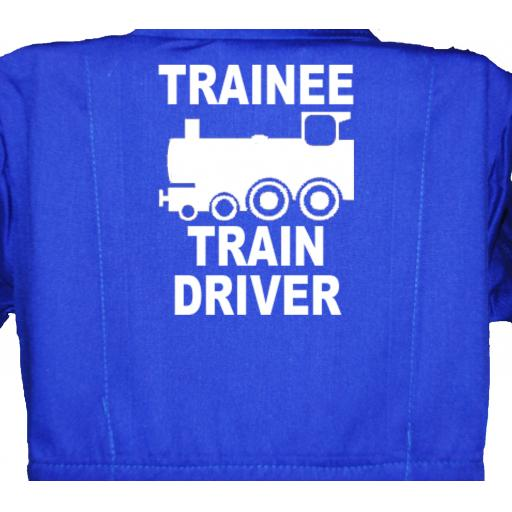 Trainee Train Driver Childrens, Kids, Coverall, Boiler suit, Overalls