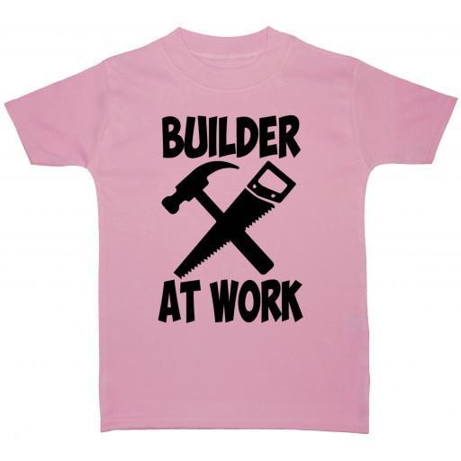 Builder At Work Baby, Children T-Shirt, Top