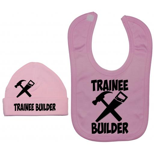 Trainee Builder Nursery Feeding Bib & Hat
