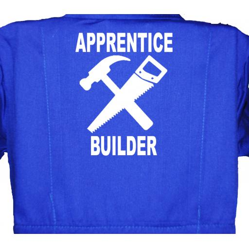 Apprentice Builder Childrens, Kids, Coverall, Boiler suit, Overalls