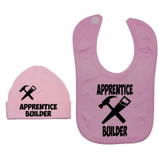 Apprentice Builder Nursery Feeding Bib & Hat