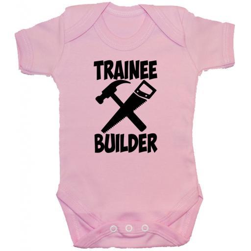 Trainee Builder Baby Grow, Romper, Bodysuit, Vest
