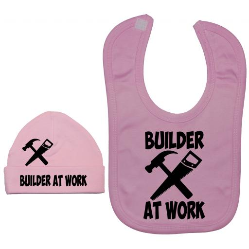 Builder At Work Nursery Feeding Bib & Hat