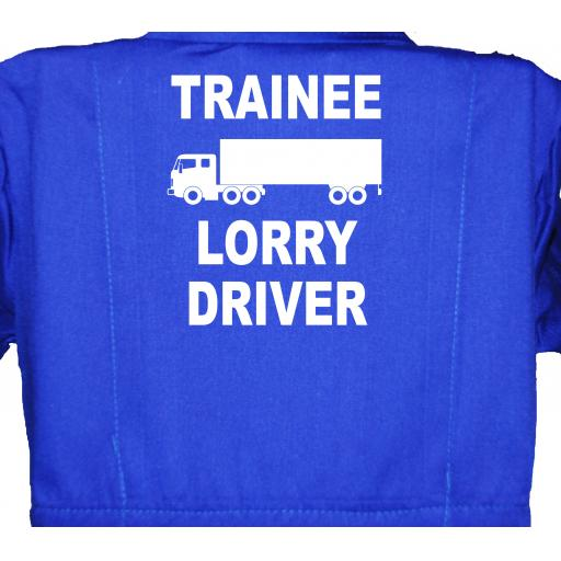 Trainee Lorry Driver Childrens, Kids, Coverall, Boiler suit, Overalls