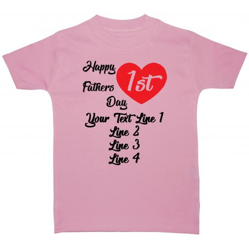 Happy 1st Fathers Day Personalised Baby T-Shirt Tops