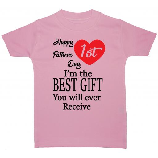 Happy 1st Fathers Day Baby T-Shirt Tops