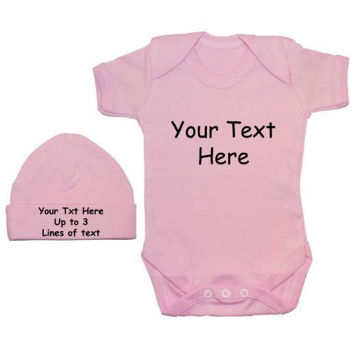 Personalised Bespoke Baby Bodysuit, Romper & Hat, Cap