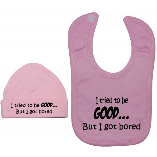 I Tried to be Good...Nursery Feeding Bib & Hat