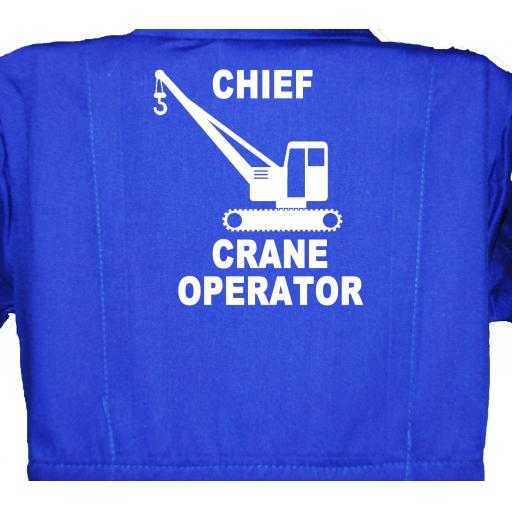 Chief Crane Operator Childrens, Kids, Coverall, Boiler suit, Overalls