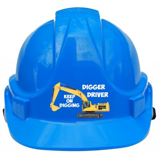 Digger Driver Label Printed Children, Kids Hard Hat Safety Helmet