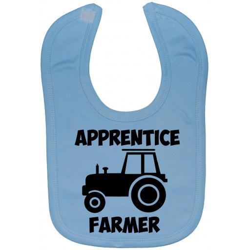 Apprentice Farmer Driver Baby Feeding Bib Newborn-3 Yrs