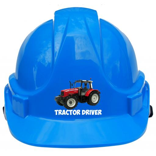 Tractor Driver Label Printed Children, Kids Hard Hat Safety Helmet