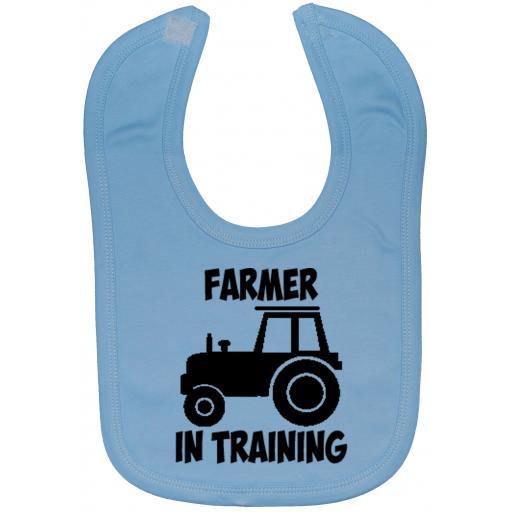 Farmer In Training Driver Baby Feeding Bib Newborn-3 Yrs