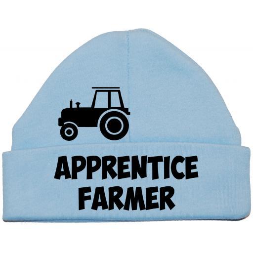 Apprentice Farmer Baby Beanie Hat, Cap Newborn -12 months