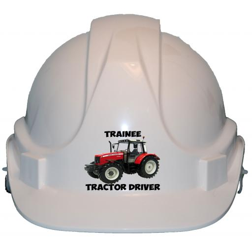 Trainee Tractor Driver Label Printed Children, Kids Hard Hat Safety Helmet