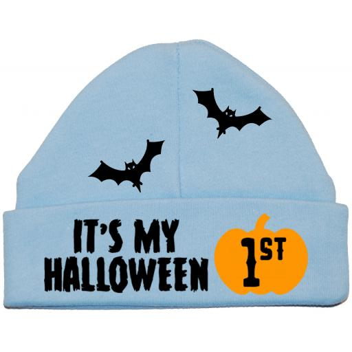 It's My First Halloween Web Baby Beanie Hat, Cap Newborn -12 Months