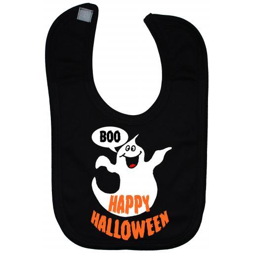 Happy Halloween Boo Baby Feeding Bib Newborn-3 Years