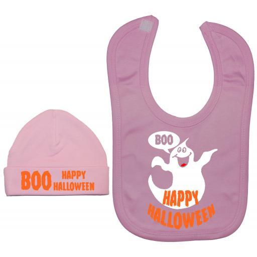 Happy Halloween Nursery Feeding Bib & Hat