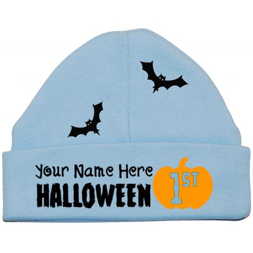 Personalised My First Halloween Baby Beanie Hat, Cap Newborn -12 Months