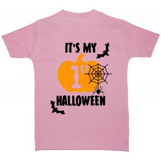 It's My First Halloween Web Baby, Children T-Shirt, Top
