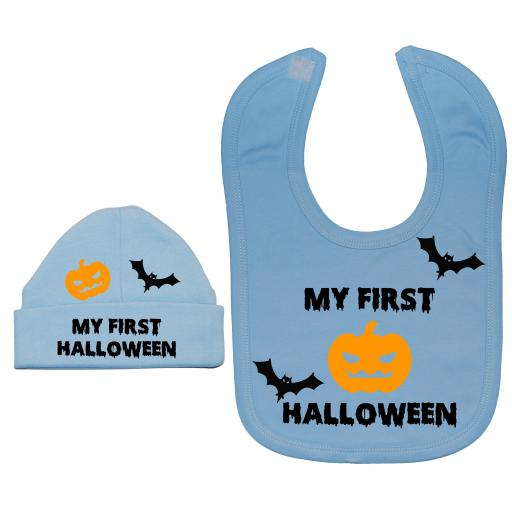 My First Halloween Nursery Feeding Bib & Hat
