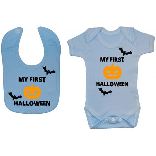 My First Halloween Baby Grow, Romper & Feeding Bib