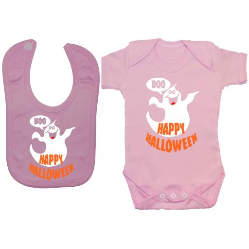 Happy Halloween Baby Grow, Romper & Feeding Bib