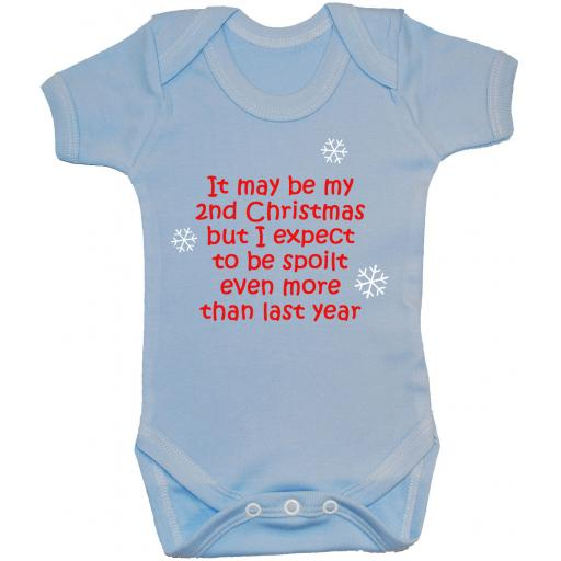 It May Be My Second Christmas Baby Grow Bodysuit Romper