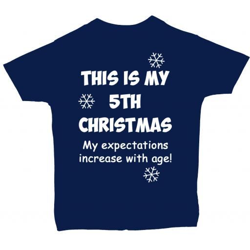 This is My 5th Christmas Baby, Children T-Shirt, Tops Xmas